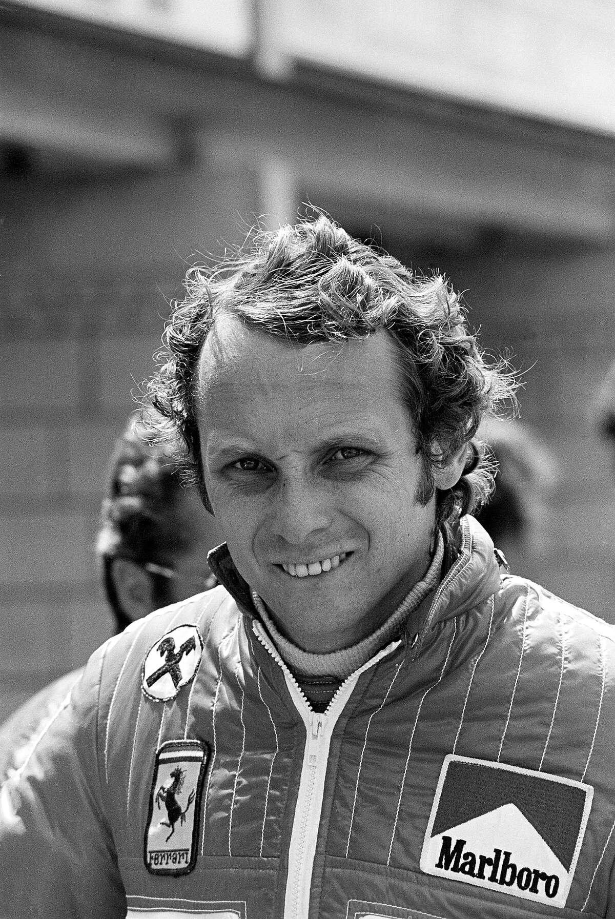 Ferrari driver Niki Lauda before his crash.
