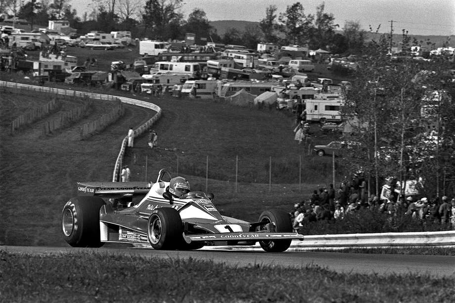 Niki Lauda of Austria drives his Ferrari 312T2 026/Ferrari 015 en route to a third place finish in the United States Grand Prix East FIA Formula 1 race at the Watkins Glen Grand Prix Race Course near Watkins Glen, New York, on October 10, 1976. Photo: Bob Harmeyer, Getty Images / 1976 Bob Harmeyer