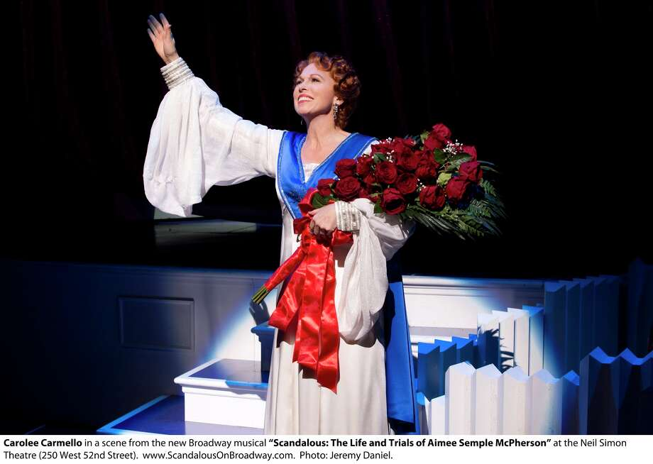 "Carolee Carmello as Aimee Semple McPherson in the musical ""Scandalous: The Life and Trials of Aimee Semple McPherson."" (Jeremy Daniel)"
