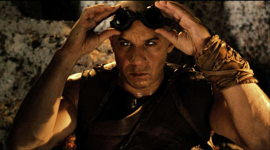 "This film image released by Universal Pictures shows Vin Diesel in a scene from ""Riddick."" (AP Photo/Universal Pictures) ORG XMIT: NYET419 / Universal Pictures"