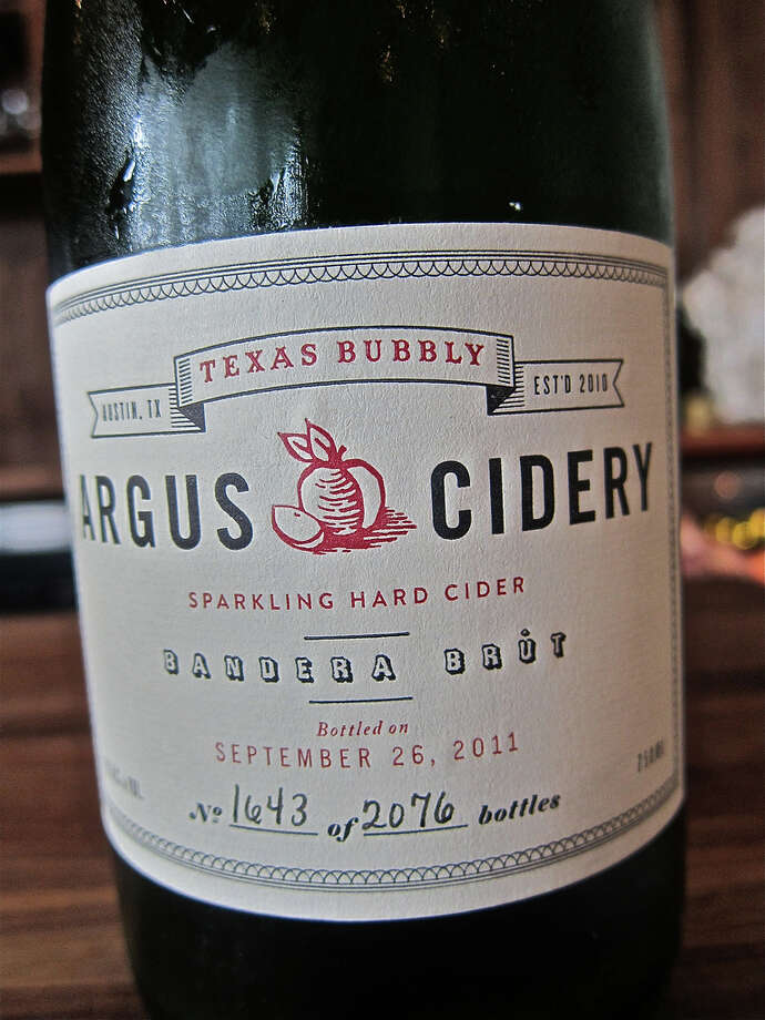 Austin's Argus Cidery is Texas' first American hard cider and is crafted from apples grown by Texans. Their ciders are dry and crisp and are available in sparkling and still varieties. A select number of restaurants and stores carry the ciders in Texas and around the nation. Tastings are offered to the public on Saturday with a weekend picnic available by reservation only. Photo: Alison Cook