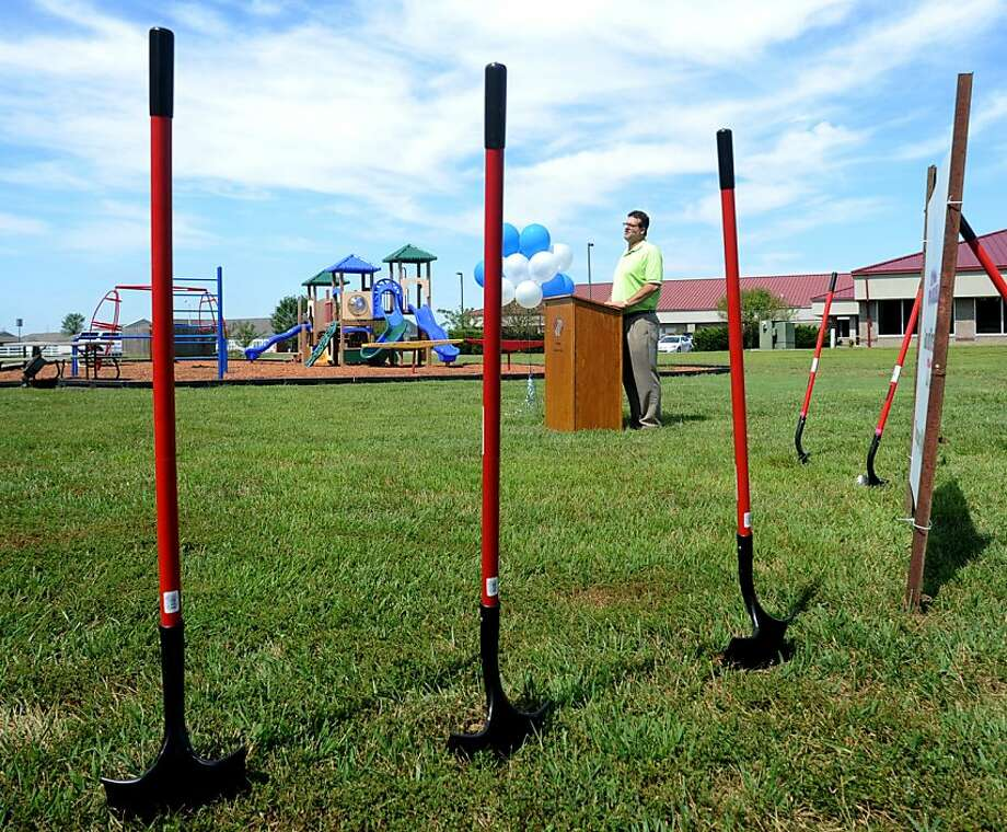 Maybe they're just camera-shy:It's kind of sad that no one came to the groundbreaking ceremony 