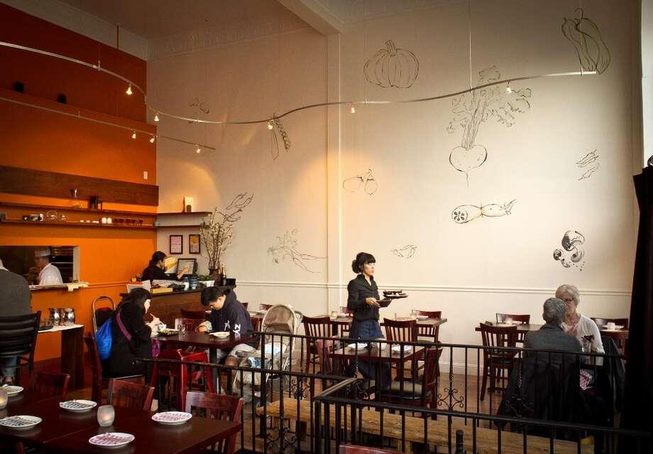 Diners enjoy dinner at Izakaya Yuzuki Restaurant in San Francisco, Calif., on Saturday, March 31st, 2012. Photo: John Storey