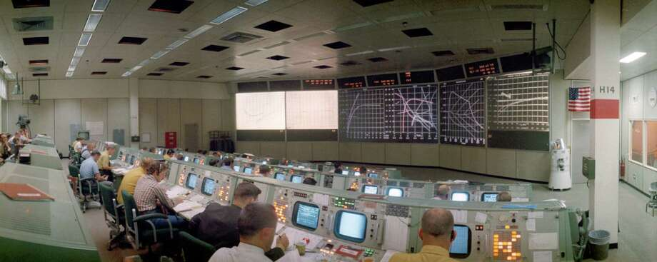 NASA's Mission Control at Johnson Space Center Gemini-era to present day. Photo: NASA / Public Domain