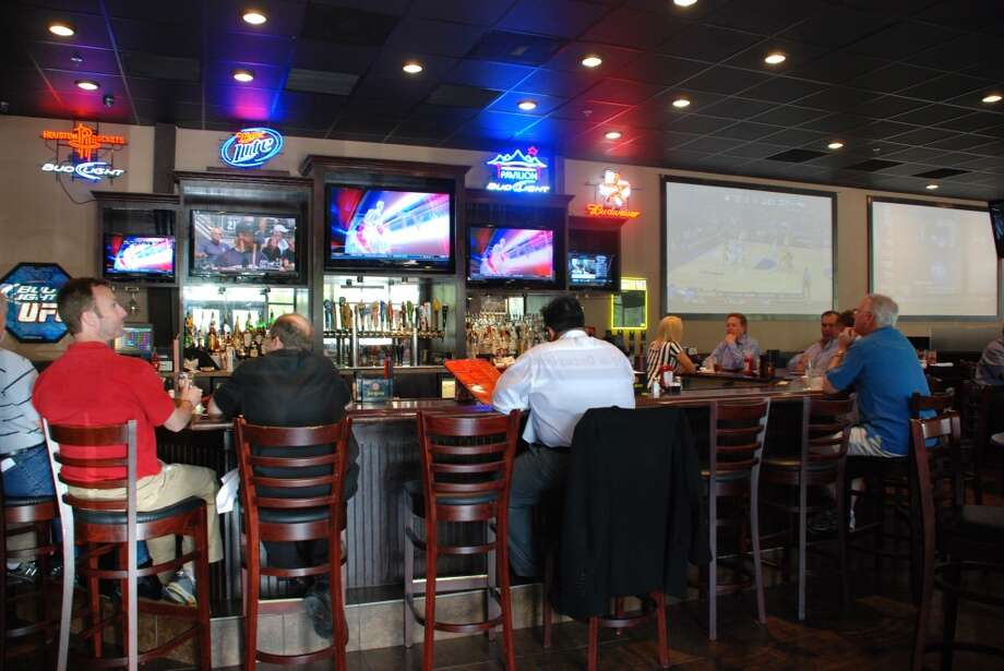 Stadia Sports Grill Burgers are the favorite fare at this small, locally owned chain of family-friendly sports bars.