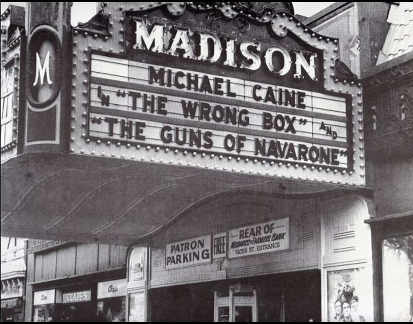 A 1960s view of the Madison Theatre. Clapp's bookstore is next door. (Photo courtesy of Barry Rosenblatt.)
