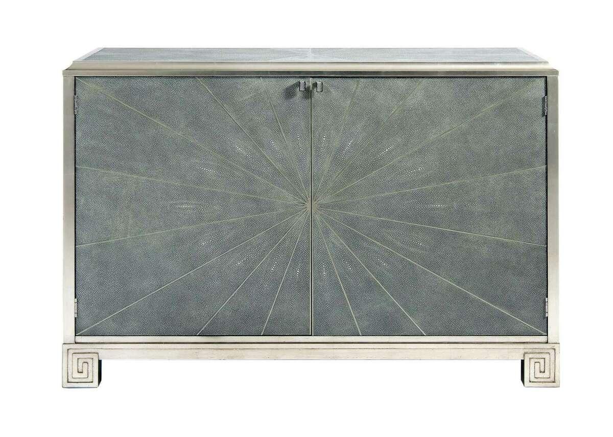 Art deco faux shagreen cabinet; $4,525 at Mecox