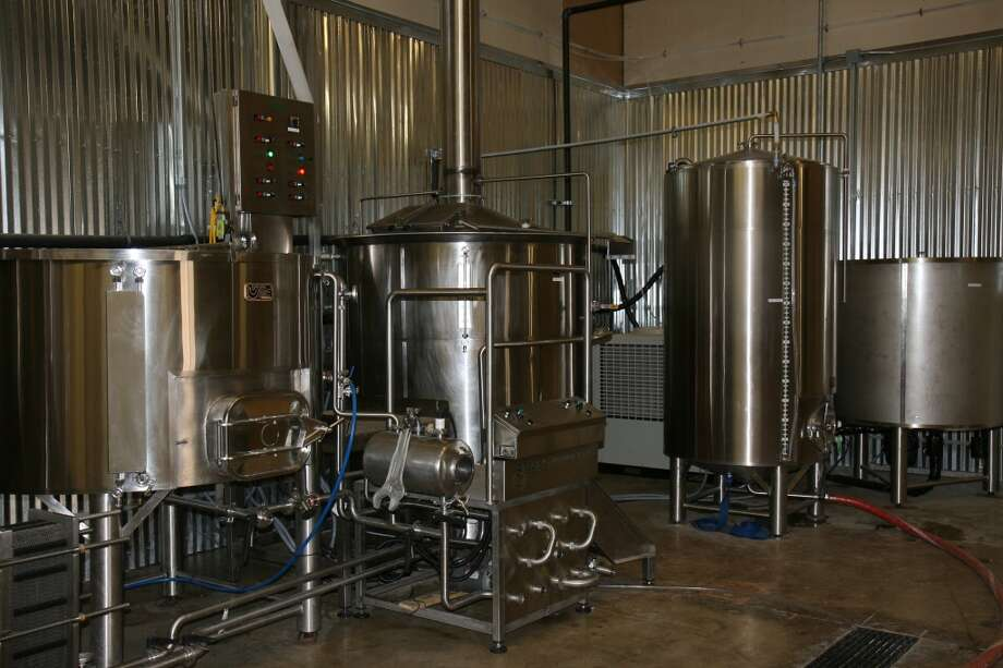 Branchline Brewing Company's brewing setup is working at full speed to keep all their accounts supplied with beer. Photo: Markus Haas, San Antonio Express-News