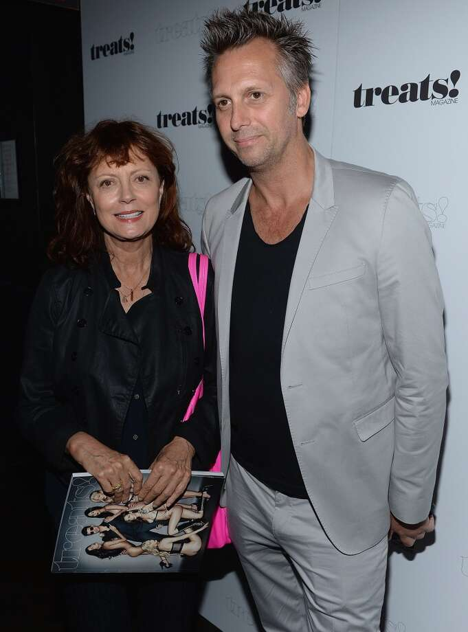 "Steve Shaw and Susan Sarandon attend Robin Thicke ""Blurred Lines"" Record Release Party at No. 8 on September 4, 2013 in New York City.  (Photo by Dimitrios Kambouris/Getty Images) Photo: Dimitrios Kambouris, Getty Images"