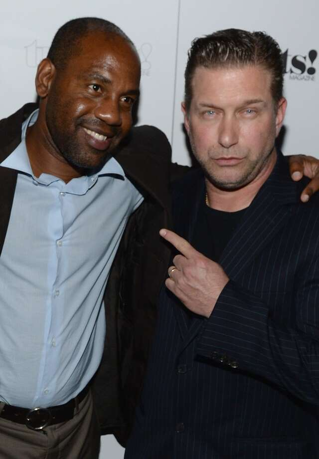 """Unik Ernest and Steven Baldwin attend Robin Thicke """"Blurred Lines"""" Record Release Party at No. 8 on September 4, 2013 in New York City.  (Photo by Dimitrios Kambouris/Getty Images) Photo: Dimitrios Kambouris, Getty Images"""