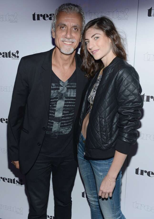 "Ric Pipino and guest attend Robin Thicke ""Blurred Lines"" Record Release Party at No. 8 on September 4, 2013 in New York City.  (Photo by Dimitrios Kambouris/Getty Images) Photo: Dimitrios Kambouris, Getty Images"