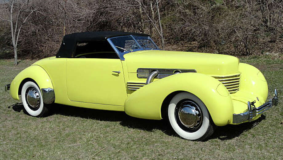 Dragone Classic Motorcars on Post Road West -- where auctions of classic and vintage vehicles such as this 1937 Cord 812 SC Sportsman in May -- will be the scene Sept. 28 of the Road & Tracks celebration. Photo: Contributed Photo / Westport News contributed