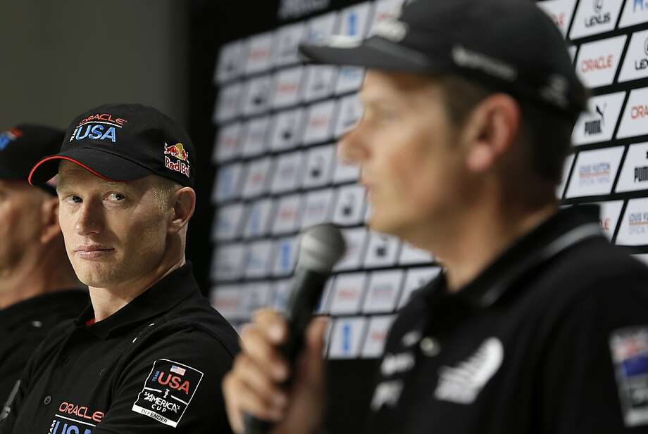 Jimmy Spithill's Oracle Team USA will start the Cup finals at a disadvantage against Dean Barker and New Zealand when the racing begins Saturday. Photo: Eric Risberg, Associated Press