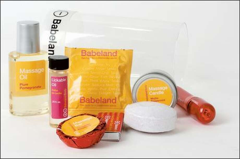 A typical offering of a ''Babeland Body'' gift package. Photo: File Photo