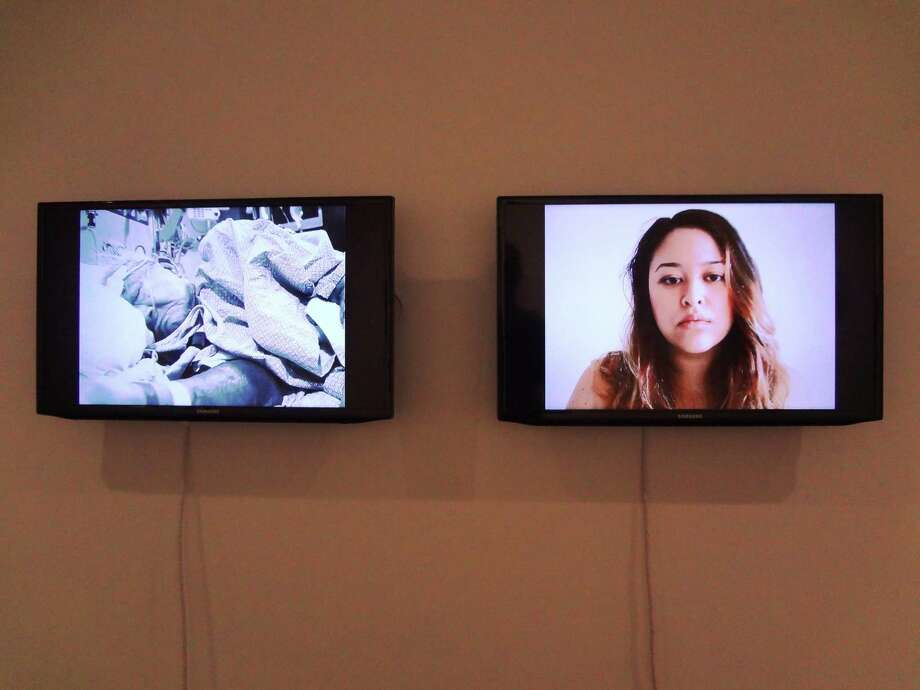 "A video installation by Melissa Tran of Dallas is featured in  ""TX-13: The Texas Biennial,"" on display through Nov. 9 at Blue Star Contemporary Art Museum. Photo: Photos By Steve Bennett / San Antonio Express-News"