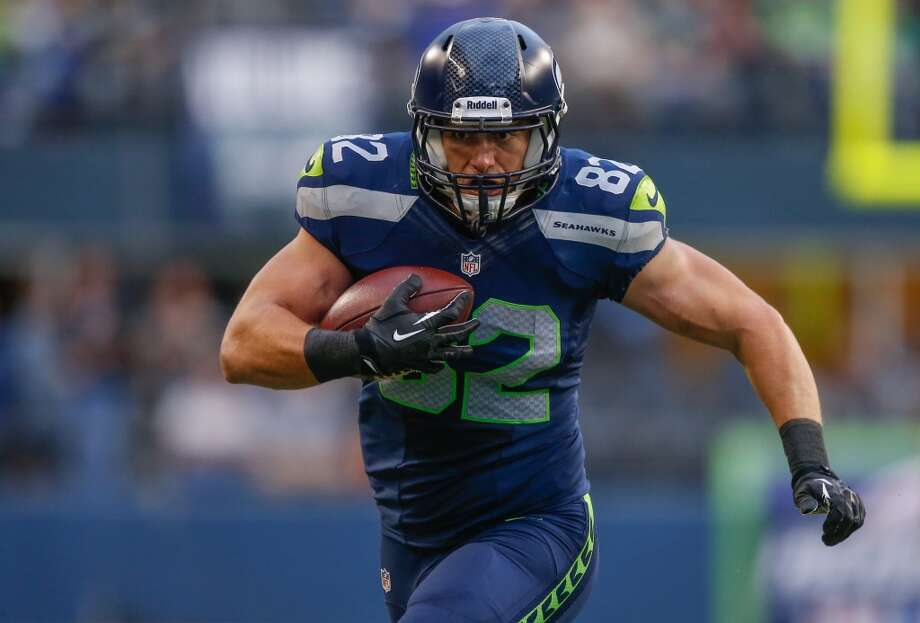 6. The under-appreciated tight endsBy the postseason last year, tight end Zach Miller was one of QB Russell Wilson's favorite targets; Miller led all Seattle receivers in the playoff loss in Atlanta. With 2012 backup Anthony McCoy out for the season after Achilles surgery, the Seahawks added rookie draftee TE Luke Willson (pictured) as Miller's backup, and Willson may indeed be an upgrade over McCoy. The 6-foot-5, 251-pound youngster brings great size and skill to Seattle's depth chart, and could be a big factor in the Seahawks' passing and running games in 2013. Look for a lot of ''Wilson to Willson'' this season. Photo: Otto Greule Jr, Getty Images
