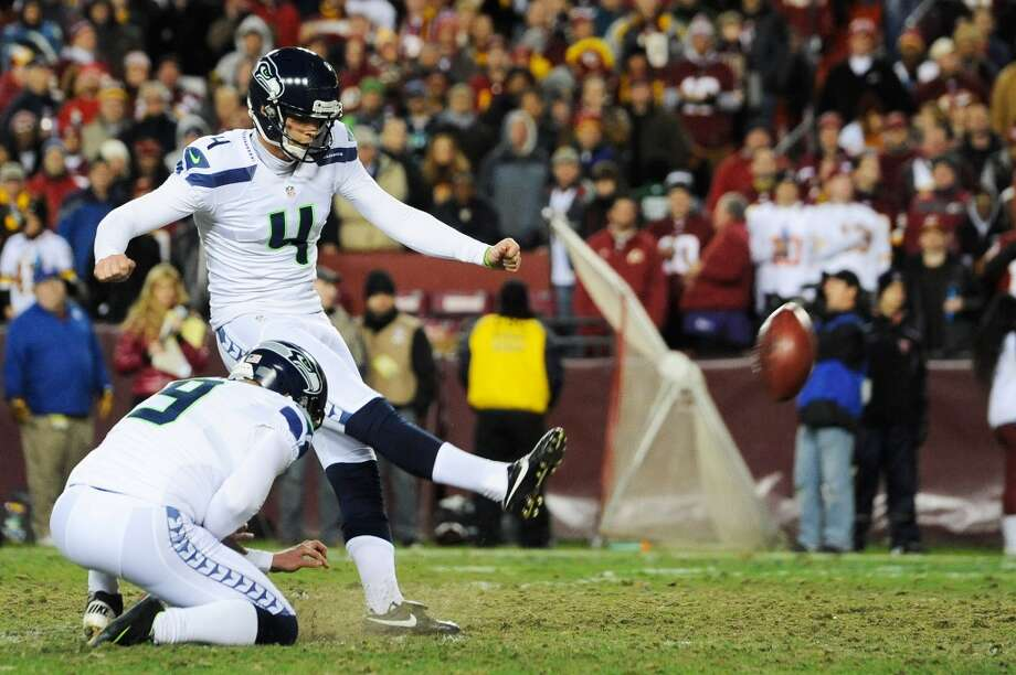 7. Consistent and dependable kickingSeahawks fans hope they don't see much of punter Jon Ryan this season, but they would love to see more of kicker Steven Hauschka. As is the case on most teams, last year Hauschka was Seattle's leading scorer with 118 total points (on 24 field goals and 46 PATs). The 28-year-old veteran of five NFL seasons is as consistent and dependable as place-kickers get. As long as the offense can get Hauschka closer than 50 yards from the goal posts, he can deliver. Photo: Patrick McDermott, Getty Images