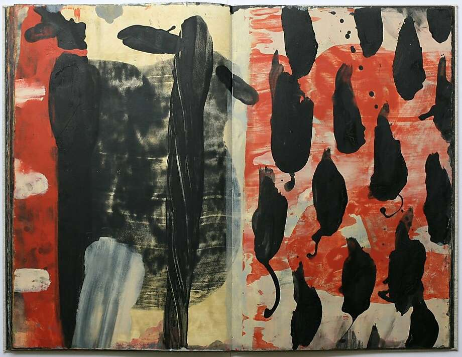 "Pages from ""Beneath Krakatoa,"" a book painted by Ward Schumaker. Photo: Unknown"