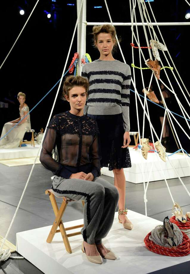 Models walks the runway during the Candela Spring 2014 fashion presentation at Mercedes-Benz Fashion Week Spring 2014 - Official Coverage - Best Of Runway Day 1 on September 5, 2013 in New York City. Photo: Fernanda Calfat, Getty Images For Mercedes-Benz / 2013 Getty Images