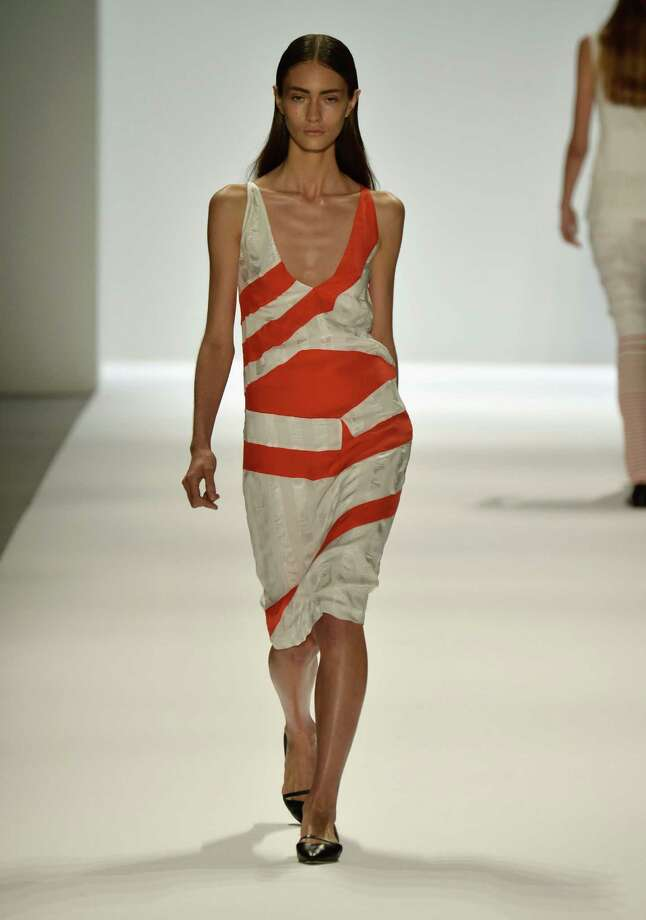A model walks the runway during Richard Chai Spring 2014 fashion show at Mercedes-Benz Fashion Week Spring 2014 - Official Coverage - Best Of Runway Day 1 on September 5, 2013 in New York City. Photo: Frazer Harrison, Getty Images For Mercedes-Benz / 2013 Getty Images
