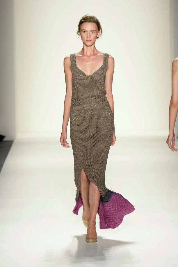 A model walks the runway during the Supima Spring 2014 fashion show at Mercedes-Benz Fashion Week Spring 2014 - Official Coverage - Best Of Runway Day 1 on September 5, 2013 in New York City. Photo: Frazer Harrison, Getty Images For Mercedes-Benz / 2013 Getty Images