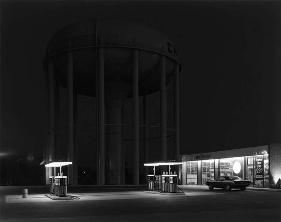 George Tice - Petit's Mobil Station, Cherry Hill, New Jersey, 1974
