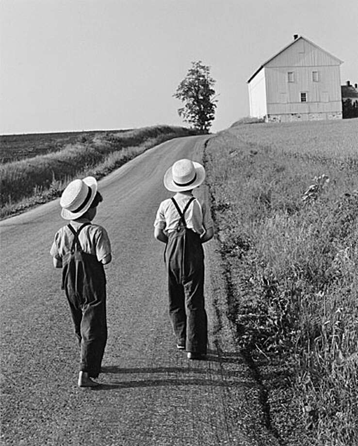 George Tice - Two Amish Boys, Lancaster, Pennsylvania, 1962
