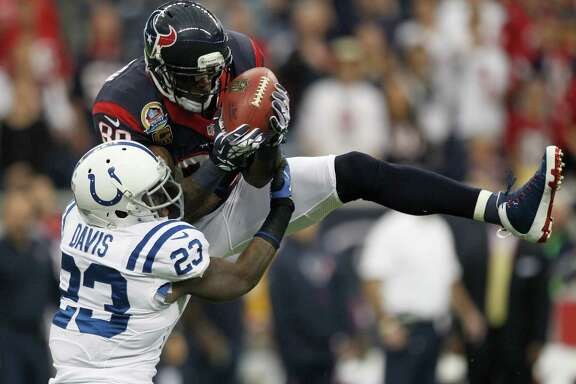 Texans wide receiver Andre Johnson (80) had a leg up on NFL secondaries in 2012, catching 112 passes for 1,598 yards and four touchdowns.