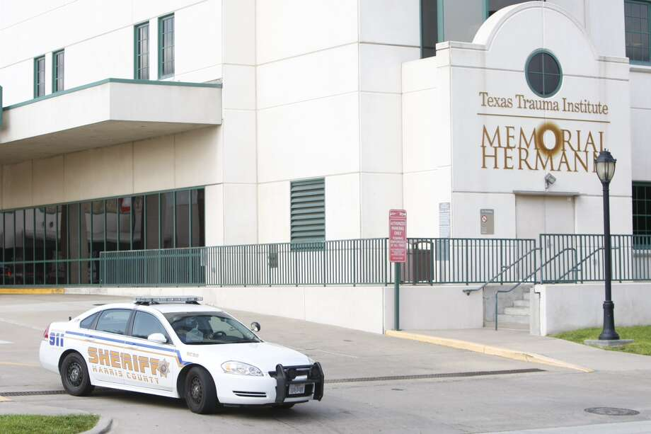A Harris County Sheriff's vehicle outside Memorial Hermann Hospital on Wednesday, following a fatal stabbing at Spring High School. At least two others were injured in the incident and were taken to the hospital by Life Flight. Photo: Cody Duty, Chronicle