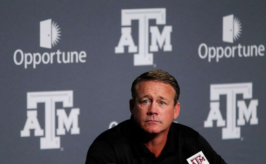 Texas A&M's defensive coordinator Mark Snyder speaks to the media during A&M's media day, Monday, Aug. 5, 2013, in College Station. ( Karen Warren / Houston Chronicle ) Photo: Karen Warren, Staff / © 2013 Houston Chronicle