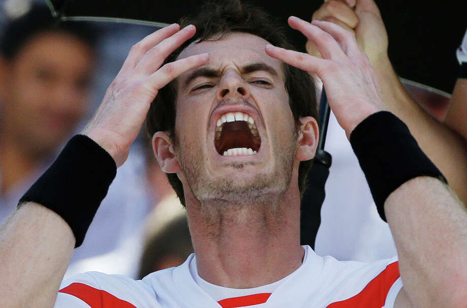 Andy Murray, of Great Britain, reacts during a break between sets after losing the first two sets to Stanislas Wawrinka, of Switzerland, during the quarterfinals of the 2013 U.S. Open tennis tournament, Thursday, Sept. 5, 2013, in New York. (AP Photo/David Goldman)  ORG XMIT: USO149 Photo: David Goldman / AP