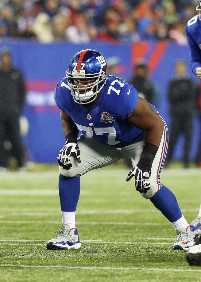 EAST RUTHERFORD, NJ - DECEMBER 09:  (NEW YORK DAILIES OUT)    Kevin Boothe #77 of the New York Giants in action against the New Orleans Saints at MetLife Stadium on December 9, 2012 in East Rutherford, New Jersey. The Giants defeated the Saints 52-27.  (Photo by Jim McIsaac/Getty Images) Photo: Jim McIsaac / 2012 Jim McIsaac