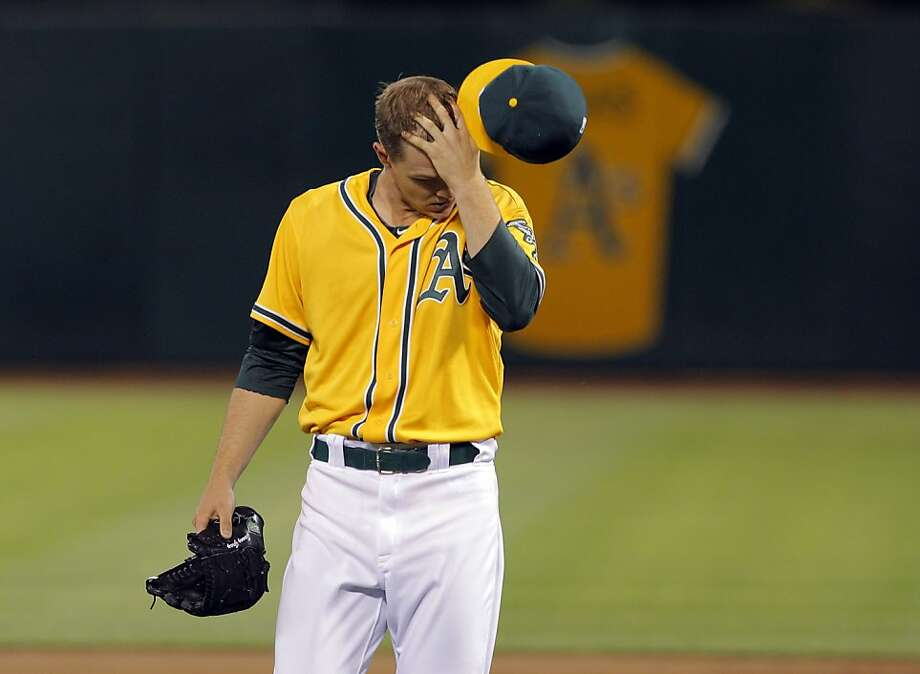 Rookie right-hander Sonny Gray settled down after giving up all three Houston runs in the first two of his eight innings. Photo: Carlos Avila Gonzalez, The Chronicle