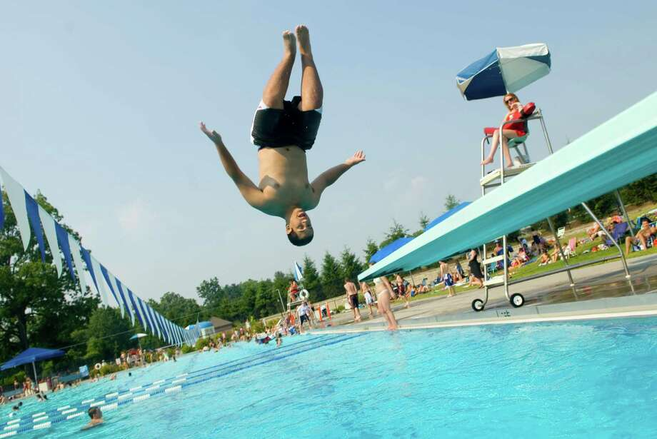 Some New Canaan residents are upset that the town has allowed nonresidents to buy passes to use the Waveny Park pool. Photo: Chris Preovolos, Stamford Advoccate / Stamford Advocate