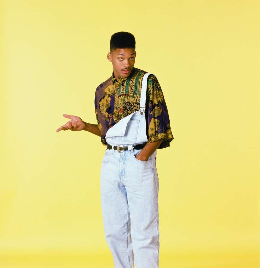 Overalls, check, man-print blouse, check, early '90s flattop... Will Smith as the The Fresh Prince of Bel Air is three for three. Photo: NBC, NBC Via Getty Images