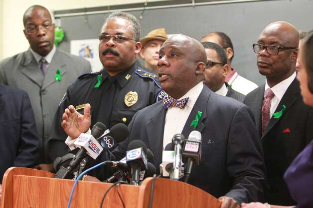Superintendent of Spring Independent School District addresses media at Spring High School on Sept. 6, 2013 in Spring. ( Mayra Beltran / Houston Chronicle )  Photo: Mayra Beltran, Houston Chronicle