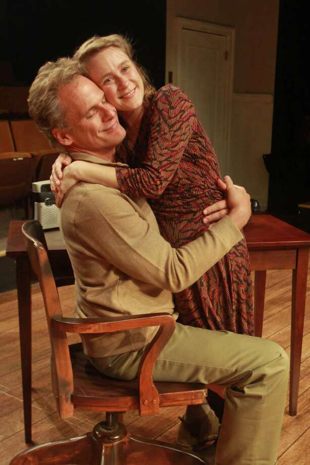 "(For the Chronicle/Gary Fountain, August 25, 2013) Joe Kirkendall as Henry, and Shannon Emerick as Annie, in this scene from Main Street Theater production of Tom Stoppard's ""The Real Thing."" Photo: Gary Fountain, Freelance / Copyright 2013 Gary Fountain."