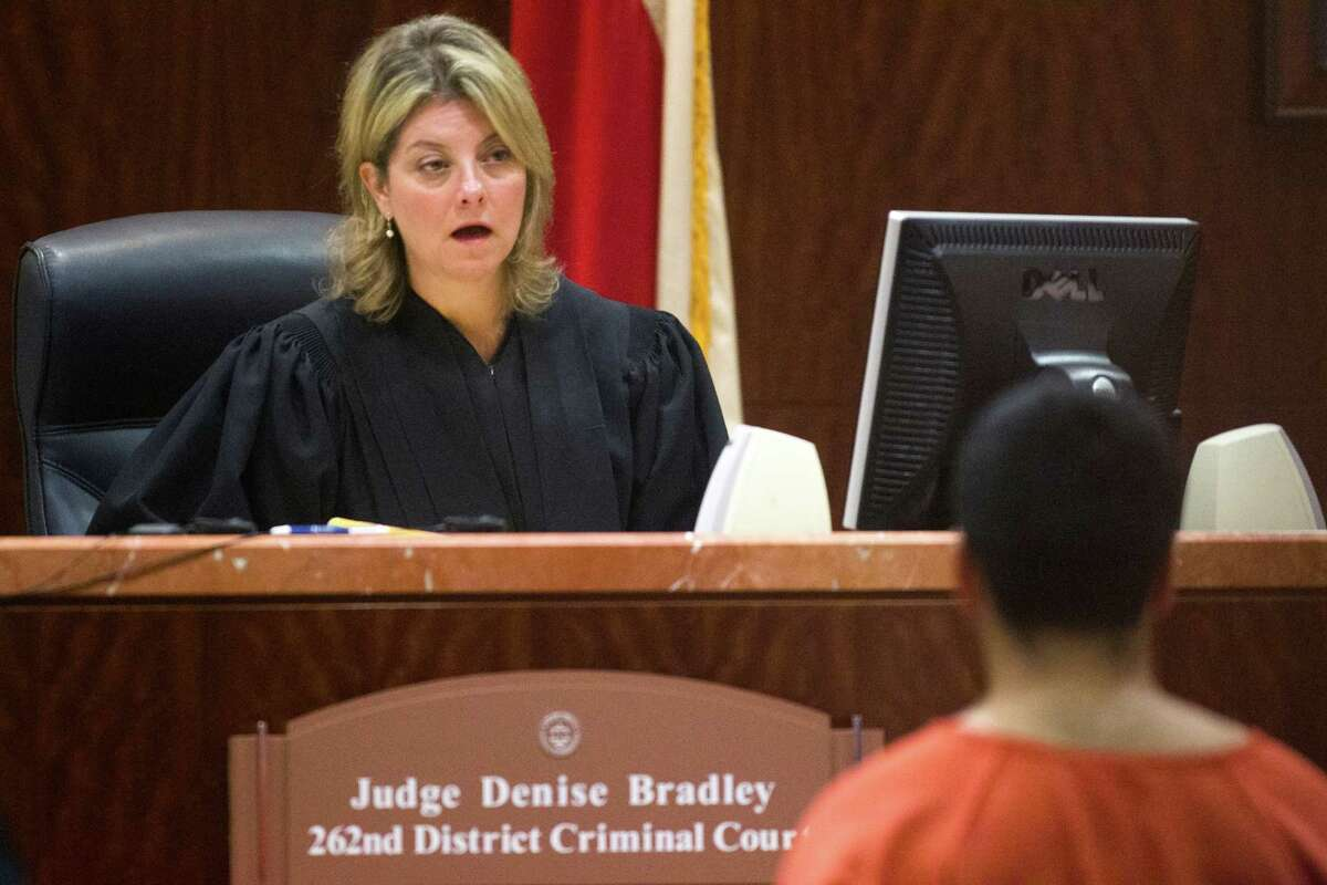 Luis Alonzo Alfaro, 17, appears before Judge Denise Bradley in the 262nd District Court on Friday, Sept. 6, 2013, in Houston. Alfaro is charged with murder accused of fatally stabbing 17-year-old Joshua Broussard at Spring High School.