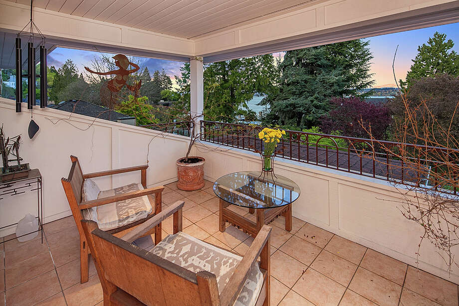 Balcony of 445 McGilvra Boulevard E. It's listed for $2.488 million. Photo: Courtesy Chris Sudore, Coldwell Banker Bain