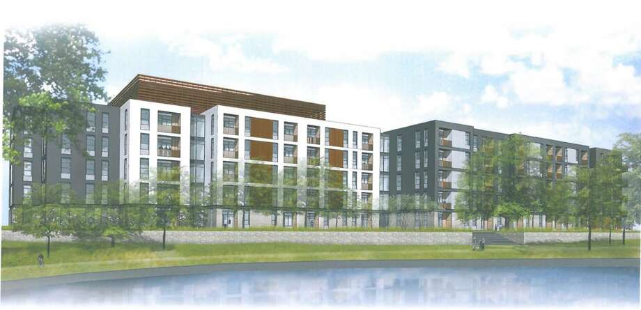 South Carolina-based Greystar has plans for a 350-unit apartment complex called Elan Riverwalk at the former Univision site on the southern stretch of the River Walk. Photo: Courtesy Michael Hsu Office Of A