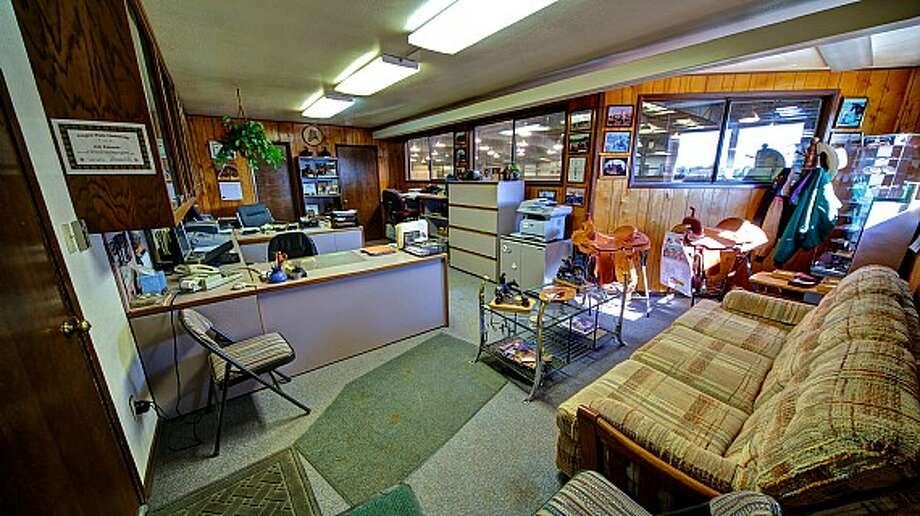Office of Venture Farms, 1850 Venture Road, in Ellensburg. It is scheduled to go up for auction on Sept. 12. Photo: J.P. King Auction Co.