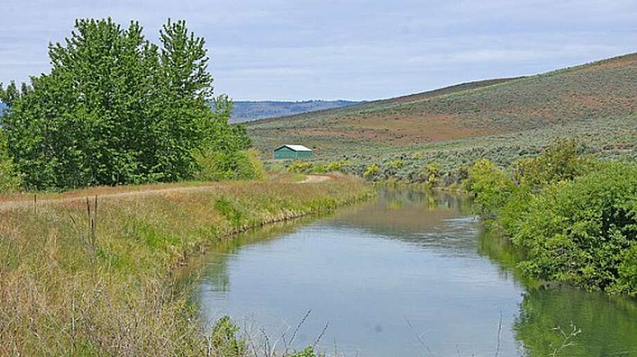 Creek of Venture Farms, 1850 Venture Road, in Ellensburg. It is scheduled to go up for auction on Sept. 12. Photo: J.P. King Auction Co.