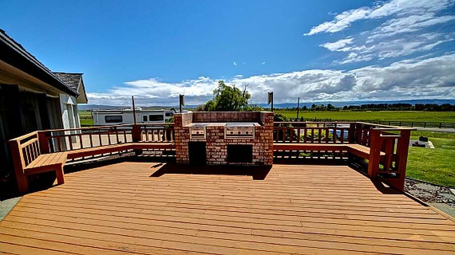 Main house deck of Venture Farms, 1850 Venture Road, in Ellensburg. It is scheduled to go up for auction on Sept. 12. Photo: J.P. King Auction Co.