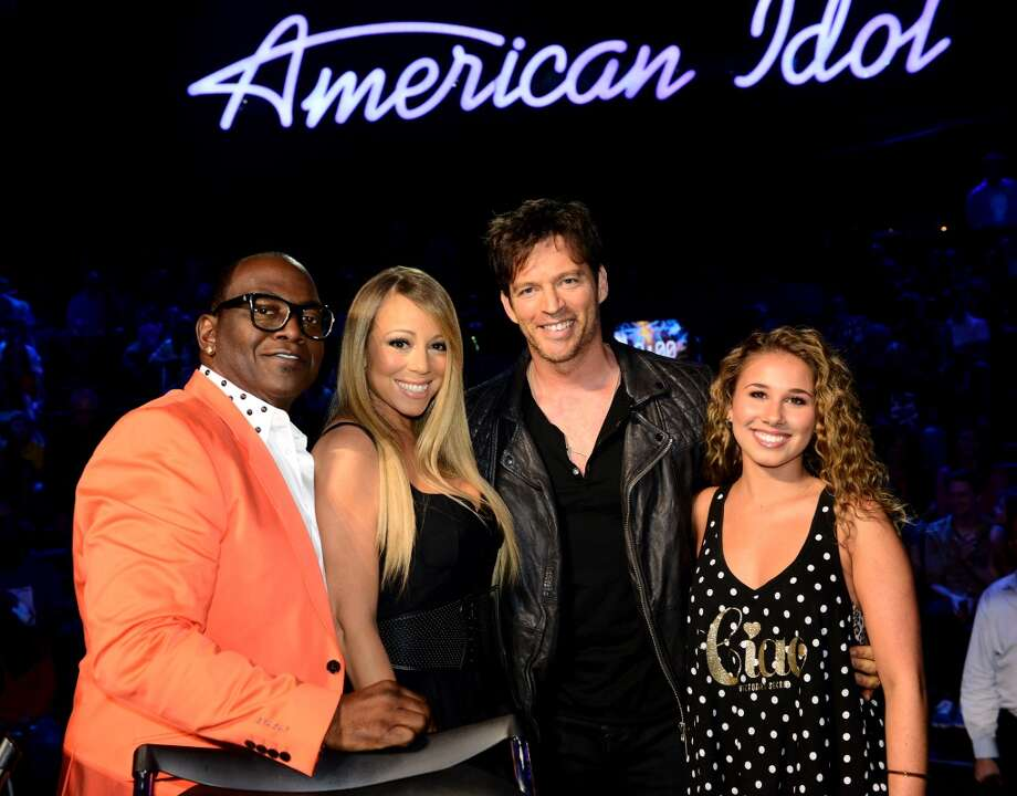 "HOLLYWOOD, CA - MAY 1: (L-R) Judges Randy Jackson and Mariah Carey and singers Harry Connick Jr. and Haley Reinhart at FOX's ""American Idol"" Season 12 Top 4 to 3 Live Performance Show on May 1, 2013 in Hollywood, California. (Photo by FOX via Getty Images) Photo: FOX"