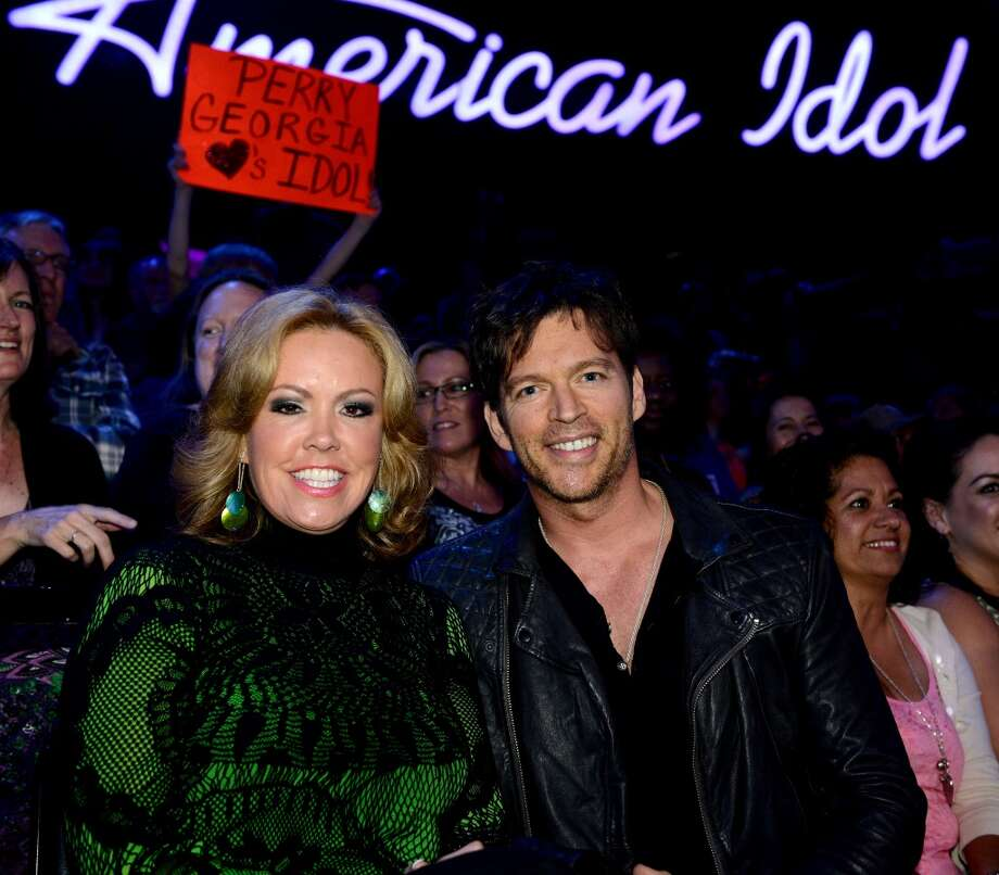 "HOLLYWOOD, CA - MAY 1: Choreographer Mary Murphy (L) and singer Harry Connick Jr. in the audience at FOX's ""American Idol"" Season 12 Top 4 to 3 Live Performance Show on May 1, 2013 in Hollywood, California. (Photo by FOX via Getty Images) Photo: FOX"