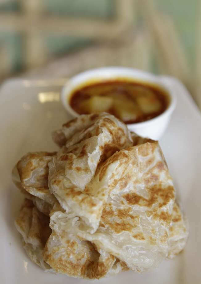 A dish of Indian pancake at Banana Leaf . Photo: Melissa Phillip, Houston Chronicle