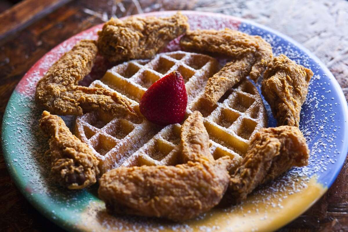 Wings & Waffle plate at the Breakfast Klub.