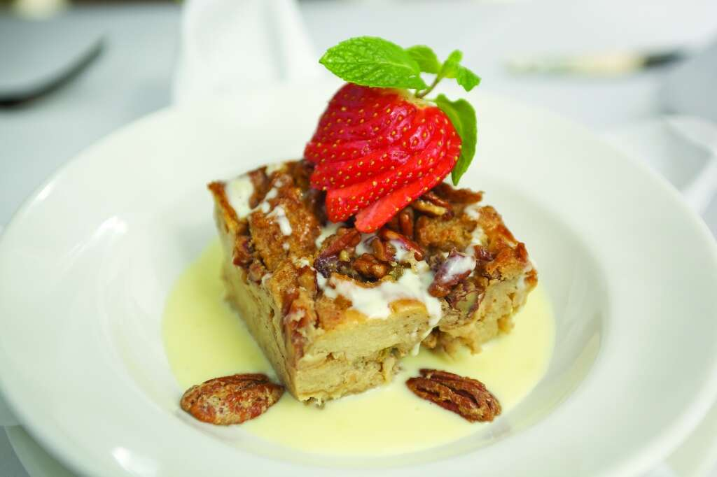 Brennan'sCreole Bread Pudding at Brennan's of Houston, which is is offering a $20 lunch, a $25 brunch and a $35 dinner menu as part of Houston Restaurant Weeks. For a complete list of HRW restaurants, as well as menus and maps, go to houstonrestaurantweeks.com. Brennan's: 3300 Smith, 713-522-9711.