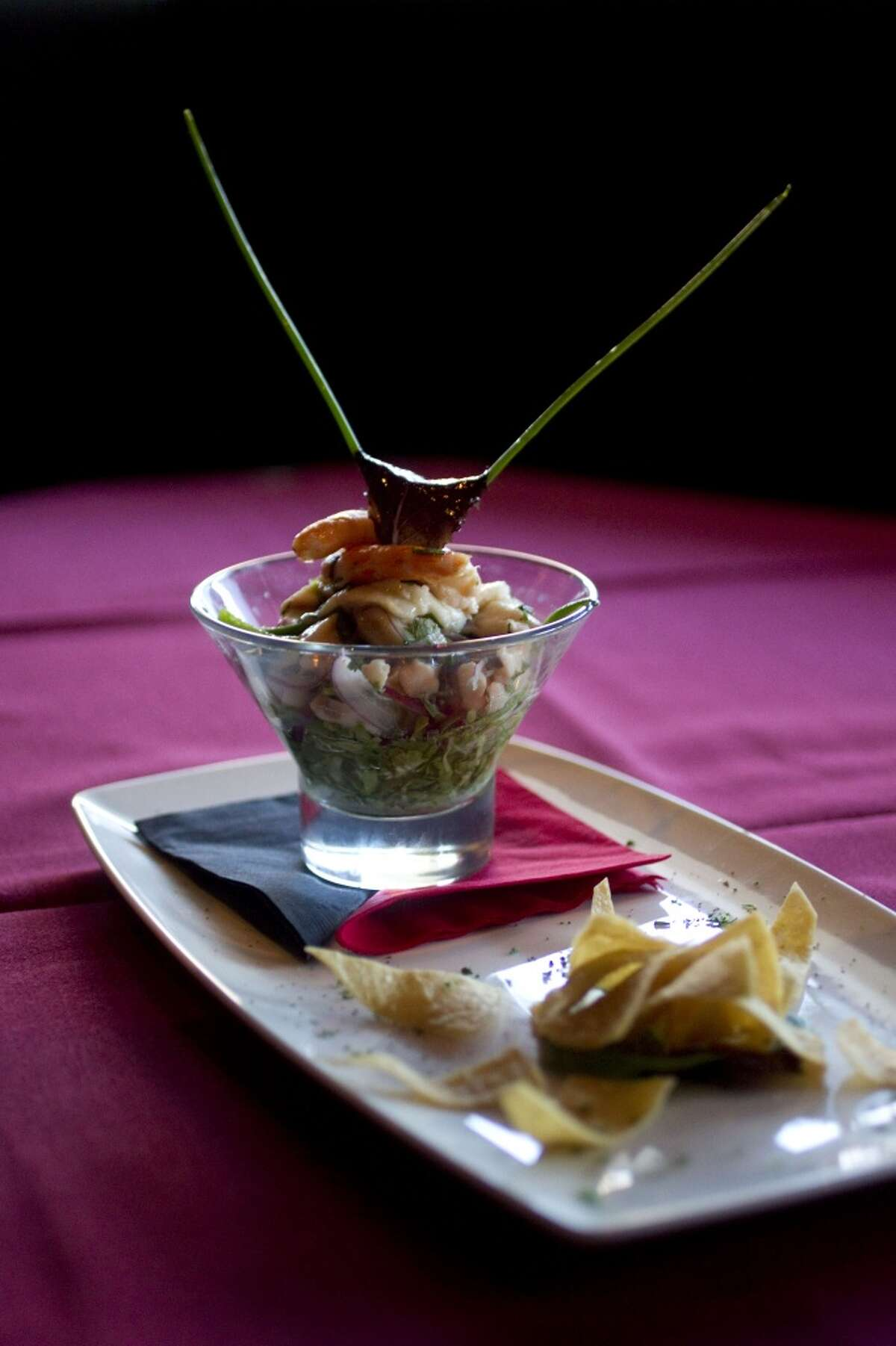 Ceviche at the Galleria neighborhood restaurant Tango and Malbec