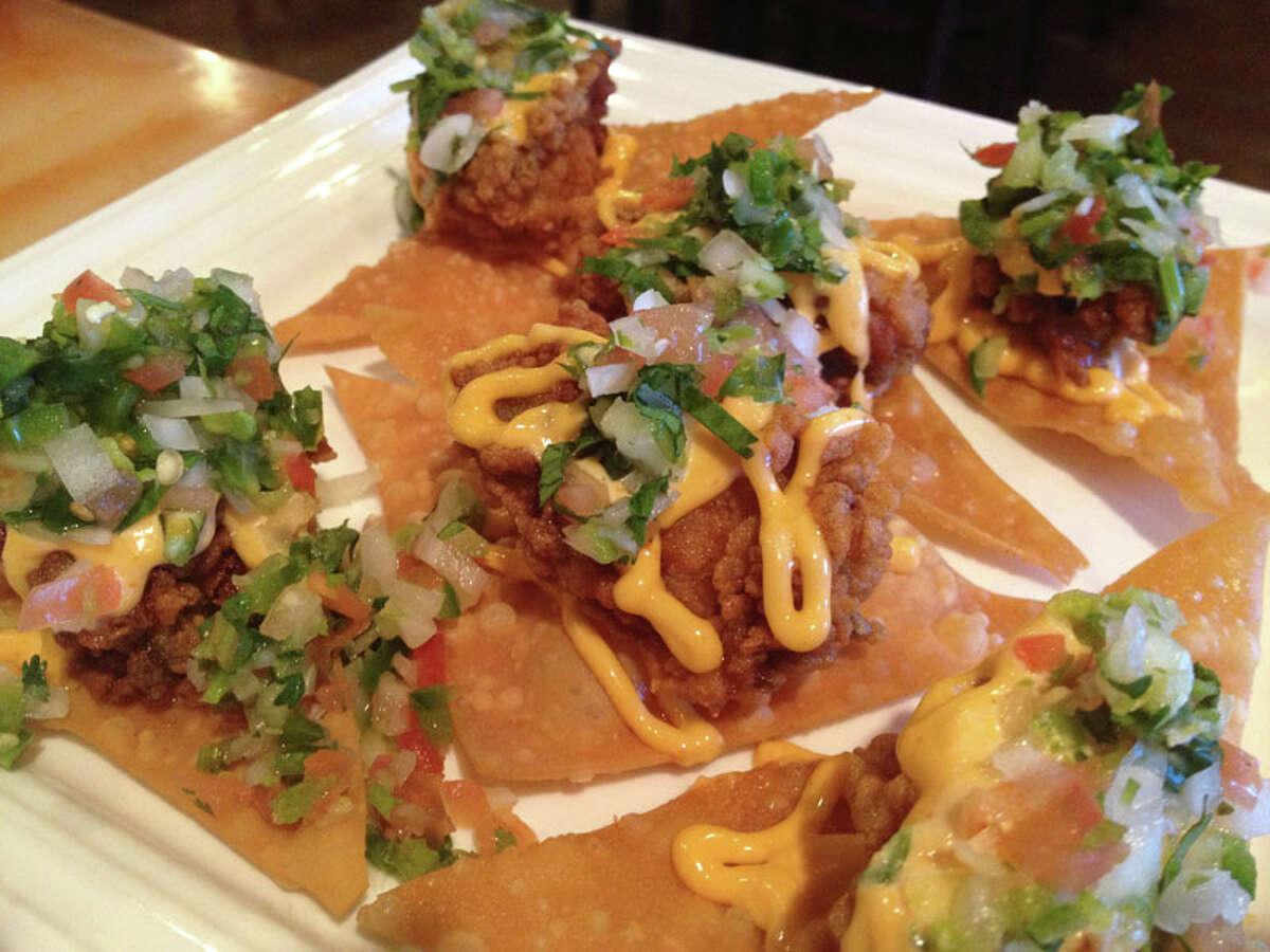 The Oyster Nachos at Cajun Kitchen